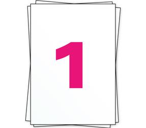 Afbeelding van A4 labels, 1 per sheet, white, permanent, 210mm x 296mm
