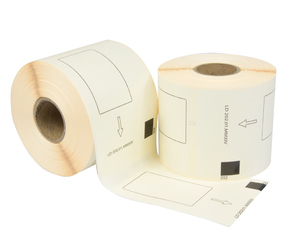 Brother DK-11202 compatible labels, 62mm x 100mm, 300 labels, white, permanent