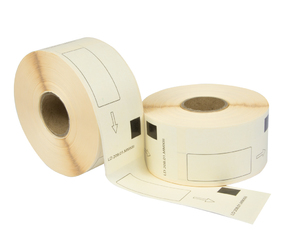 Brother DK-11208 compatible labels, 38mm x 90mm, 400 labels, white, permanent