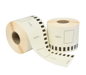 Brother DK-22205 compatible labels, 62mm x 30.48m, white, permanent