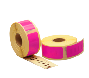 Dymo 11352 Compatible Labels, 54mm x 25mm, 500 Labels, Pink, Permanent
