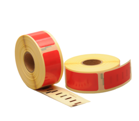 Dymo 11352 Compatible Labels, 54mm x 25mm, 500 Labels, Red, Permanent