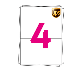 UPS Label on A4 Sheet Labels, 105mm x 148mm (4