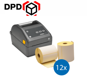 DPD Starter Package | Zebra ZD420D Ethernet Printer + 12 Zebra Label Rolls in 102mm x 150mm