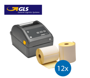 GLS Starter Package | Zebra ZD420D Ethernet printer + 12 Zebra Label Rolls in 102mm x 150mm