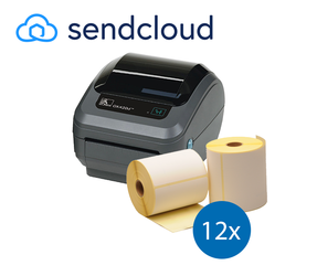 SendCloud Starter Package | Zebra GK420D Printer + 12 Zebra Label Rolls in 102mm x 150mm
