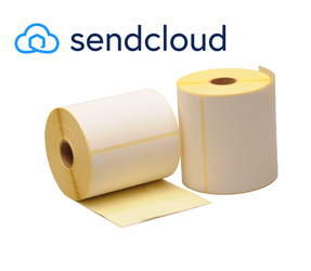 Zebra compatible SendCloud shipping labels, 102mm x 150mm, 300 labels, 25mm core, white, permanent
