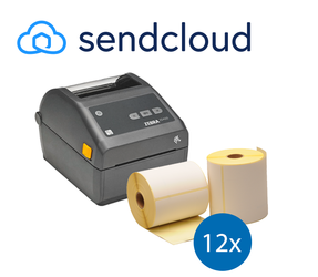 SendCloud Starter Package | Zebra ZD420D Printer + 12 Zebra Label Rolls in 102mm x 150mm