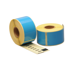 Dymo 99012 compatible labels, 89mm x 36mm, 260 labels, blue , permanent