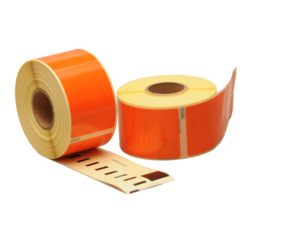 Dymo 99012 compatible labels, 89mm x 36mm, 260 labels, orange, permanent