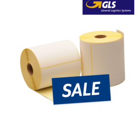 Zebra compatible GLS shipping labels, 102mm x 152mm, 300 labels, 25mm core, white, permanent