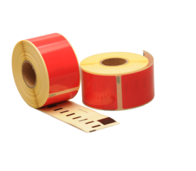 Dymo 99012 compatible labels, 89mm x 36mm, 260 labels, red, permanent