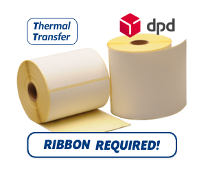 TTR Zebra DPD (800294-605) compatible shipping label, 102mm x 152mm, 300 Labels, 25mm core