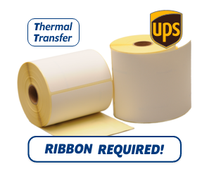 TTR Zebra UPS (800294-605) compatible shipping label, 102mm x 152mm, 300 Labels, 25mm core