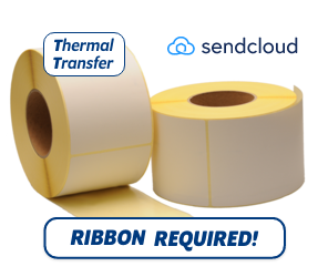 TTR Zebra SendCloud (87985) compatible shipping label, 102mm x 152mm, 900 Labels, 76mm Core
