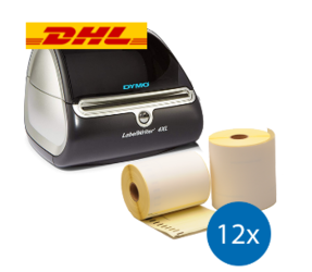 Starter Package DHL | Dymo LW 4XL + 12 rolls compatible Dymo S0904980