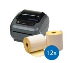 Emergency Package | Zebra GK420D + 12 Label Rolls (102mm x 210mm)