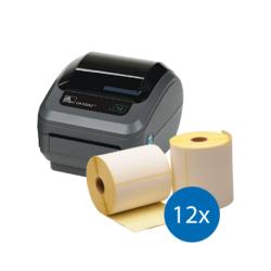Afbeelding van Emergency Package | Zebra GK420D + 12 Label Rolls (102mm x 210mm)