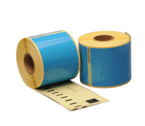 Dymo 99014 compatible labels, 101mm x 54mm, 220 labels, blue, permanent