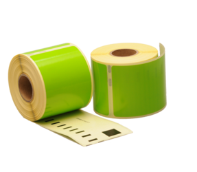 Dymo 99014 compatible labels, 101mm x 54mm, 220 labels, green, permanent