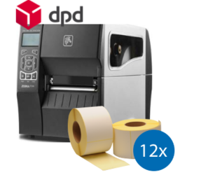DPD XL Start-Up Package: Zebra ZT230 Ethernet Printer + 12 Zebra compatible DPD Shipping Label Rolls 102mm x 150mm