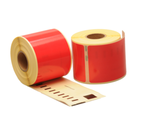 Dymo 99014 compatible labels, 101mm x 54mm, 220 labels, red, permanent