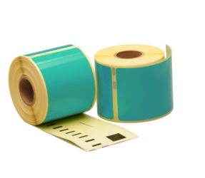 Dymo 99014 compatible labels, 101mm x 54mm, 220 labels, sea-green, permanent