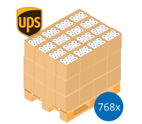 UPS Pallet Deal: 768 Label Rolls | 102mm x 150mm (4