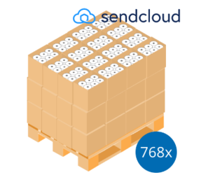 SendCloud Pallet Deal: 768 Label Rolls | 102mm x 150mm (4