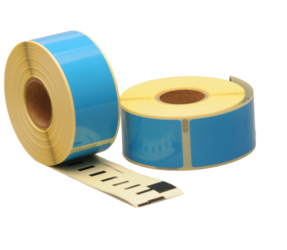 Seiko SLP-1BLB compatible labels, 89mm x 28mm, 260 labels, blue, permanent