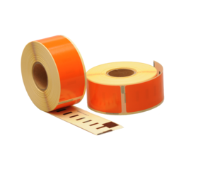 Seiko SLP-1OLB compatible labels, 89mm x 28mm, 260 labels, orange, permanent