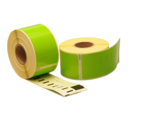 Seiko SLP-2RLE compatible labels, 89mm x 36mm, 260 labels, green, permanent