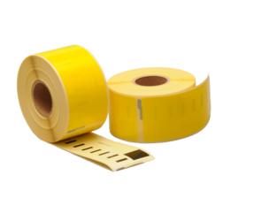 Seiko SLP-2RLE compatible labels, 89mm x 36mm, 260 labels, yellow, permanent