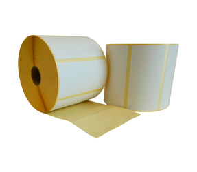 Zebra (87000) compatible labels, 100mm x 50mm, 1.300 labels, 25mm core, white, permanent