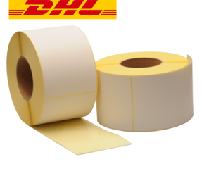 Zebra compatible DHL shipping labels, 102mm x 210mm, 640 labels, 76mm core, white, permanent