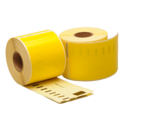 Dymo 99014 compatible labels, 101mm x 54mm, 220 labels, yellow, permanent