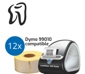 Dental Practice Starter Package | Dymo LabelWriter 450 Turbo + 12 rolls Dymo 99010 Compatible Labels