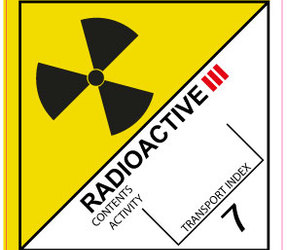 IMO 7.3 Radioactive III label, 100mm x 100mm, 1.000 labels, core 76mm