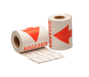 Caution label, 76,2mm x 127mm, 100 labels, permanent