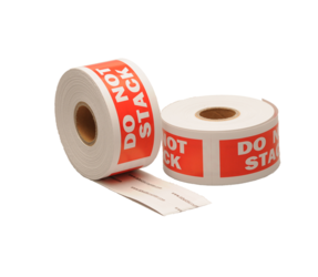 Do not stack label, 101,6mm x 38,1mm, 300 labels, permanent