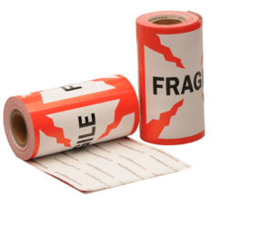 Fragile Labels, 101.6mm x 101.6mm, 100 Labels, Permanent