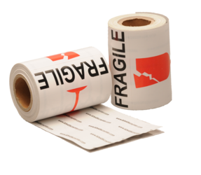 Fragile Labels, 76.2mm x 101.6mm, 100 Labels, Permanent