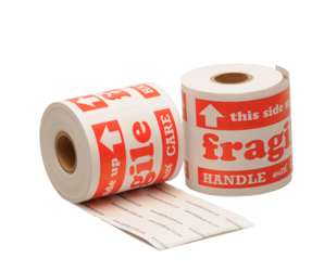 Label Fragile, 127mm x 76.2mm, 200 Labels, Permanent adhesive