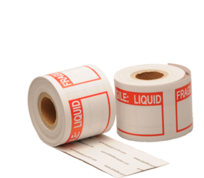 Fragile: Liquid Labels, 76.2mm x 50.8mm, 200 Labels, Permanent