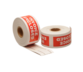 Invoice Enclosed Labels, 101.6mm x 38.1mm, 300 Labels, Permanent