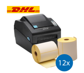 DHL Starter Package |  Bixolon SLP-DX420G + 12 Label Rolls in 102mm x 210mm