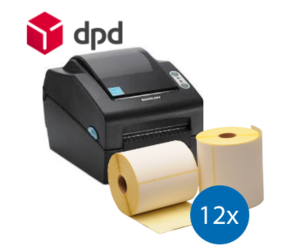 DPD Starter Package | Bixolon SLP-DX420EG Ethernet Printer + 12 Label Rolls in 102mm x 150mm