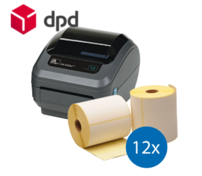 DPD Starter Package | Zebra GK420D Ethernet Printer + 12 Zebra Label Rolls in 102mm x 150mm