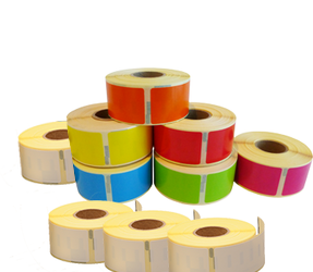 Dymo 11352 Rainbow Package | 54mm x 25mm, 6 colours + 4 white compatible rolls