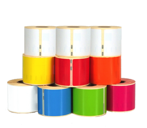 Dymo 99014 Rainbow Package | 101mm x 54mm, 6 colours + 4 white compatible rolls